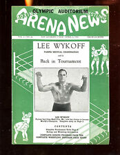 April 3 1940 Arena News Wrestling Magazine With Lee Wykoff Front Cover EX