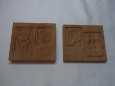 Vintage German Two Sides Wooden SPRINGERLE COOKIE MOLD Front and Back Side #C