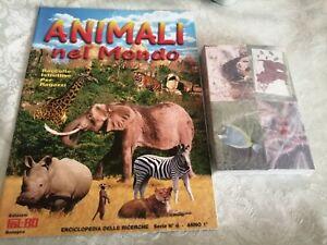 ANIMALI nel MONDO,copertina animali vari FOL.BO del 2091 Set Completo Figurine