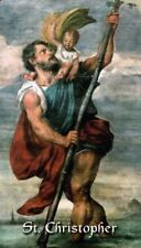 St. Christopher (Patron Saint of Travelers and Athletes) Prayer Card, 10-pack