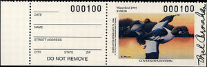 MISSOURI #17GH 1995 HAND SIGNED GOVERNOR STAMP ONLY 100 MADE  #100 Mel Carnahan