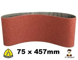 75 x 457mm Sanding Belts 75x457 KLINGSPOR 3'' x 18'' GERMAN Belts 40-150