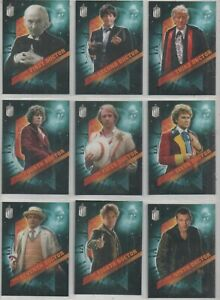 """Dr. Who Timeless Set of 13 Trading Cards """"Doctors Across Time"""""""