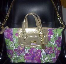 COACH MADISON FLORAL AUDREY Satchel Handbag Convertible Shoulder Purse 14589