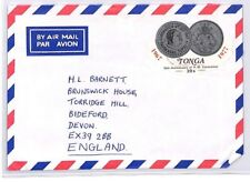 BQ101 1977 Tonga Devon Great Britain Airmail Cover {samwells} PTS