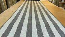 100% WOOL ECO FRIENDLY RUG/CARPET MAT 65cm x 400cm GREY STRIPE Retail £300