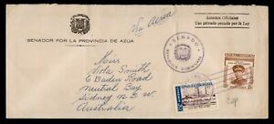 DR WHO 1958 DOMINICAN REPUBLIC OFFICIAL AIRMAIL TO AUSTRALIA  f94292