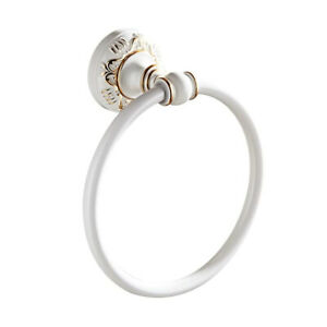 Towel Ring Bathroom Hardware Bath Accessories Wall Mounted Tissue Holder Country