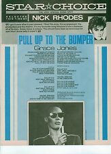 Nick Rhodes (DURAN) chooses Grace Jones lyrics magazine PHOTO/Clipping 11x8 inch