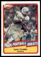 1989 Hall of Fame RED #136 Larry Csonka HOF RARE Miami Dolphins / Syracuse