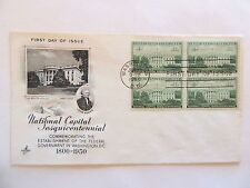 "June 12th, 1950  Sesquicentennial of ""National Capital"" First Day Issue,,,"