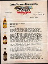 1927 Norristown Pa - Adam Scheidt Brewing Co - Valley Forge Special Letter Head