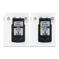 Canon Genuine 2PCS Pixma PG-210XL Black CL-211XL Tri-Color Fine Ink Cartriges