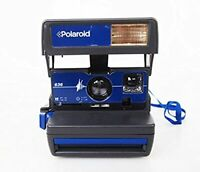 Polaroid camera FILM/GUIDE MANUAL INCLUSIVE **RARER eye catching  BLUE FASCIA