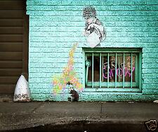 huge Not Banksy Grow by Andy Baker art print painting Street Stencil Australia
