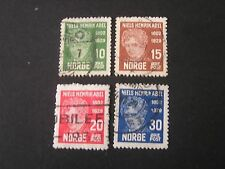 Norway, Scott # 145-148(4) 1929 Neils Henrik Abel Issue. Used