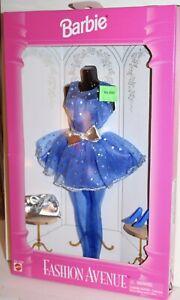 Barbie Fashion Avenue Collection Boutique 1995 Blue Dress & Tights #14980
