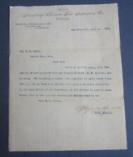 Old 1889 - Hamburg Bremen Fire Insurance - Letterhead - San Francisco Ca.