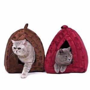 Warm Cotton Cat Cave House Pet Bed Pet Dog House Lovely Soft Suitable Pet Dog