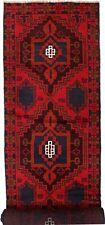 2016 # Tribal Handmade Afghan Wool Hallway Baluchi Long Runner Rug 392 x 79 cm
