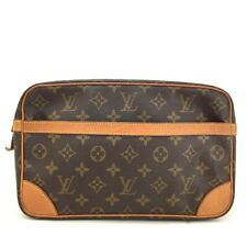 100% Authentic Louis Vuitton Monogram Compiegne 28 Clutch Hand Bag /331