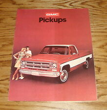 Original 1975 GMC Pickup Sales Brochure 75 Sierra 4x4