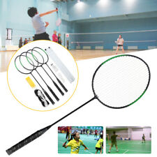 4 Players Badminton Racquet Set Racket / 2 Shuttlecocks / Net / Poles / Bag  AU