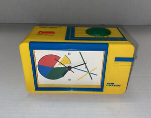 Vintage 1980's Yellow Alarm Clock Radio by ERTL Tested Working Prop Free Shippg