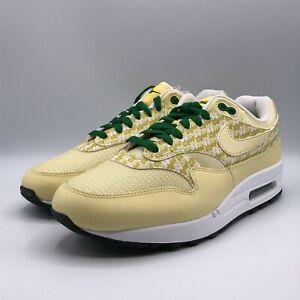 Nike Mens Size 9 Air Max 1 PRM Lemonade 2020 Shoes Sneakers Yellow Green 1147