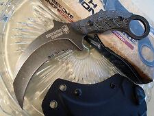 United Death Before Dishonor Stonewash Karambit Knife Full Tang Micarta Kydex