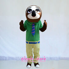 【SALE】NEW FLASH FOLIVORA SLOTH ZOOTOPIA MASCOT COSTUME ADULT SIZE PARTY DRESS