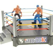Wrestling Toy Figure Set w/Ring 12 Figures Accessories & Elastic Ropes Smackdown