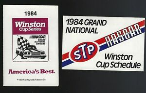 Lot of 2 1984 Winston Cup Series NASCAR Grand National Folded Pocket Schedules