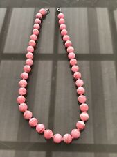 Pink Rhodochrosite Bead Necklace