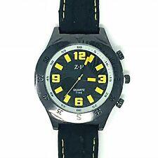 ZH Mens Oversized Sports Watch Black / Yellow Detail
