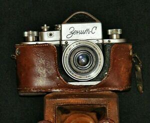SLR Film Camera 35mm ZENIT C tested Rare Vintage Analog cameras ussr 1955 M39