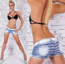 SEXY JEANS HOT PANTS INCL. GÜRTEL BLUE WASHED~Gr.36/M