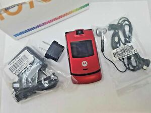 Motorola Flip V3m Red US Cellular Antique lattest Units Fully tested Cdma2000 1X