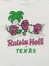 New listing Authentic 80s Vintage Xl T-Shirt Califoria Raisins Raisin Hell In Texas Souvenir