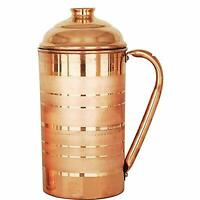 Handmade New Copper Jug with Original Lid for Water Capacity 1500ml