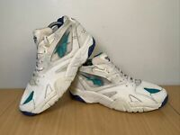 Vintage Reebok Preseason Men's White Leather RB401 YYI Trainers Size UK 8 EUR 42