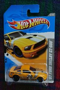 """2012 HOT WHEELS """"Code Cars"""" 2007 Ford Mustang Shelby GT-500 (race) yellow #28"""
