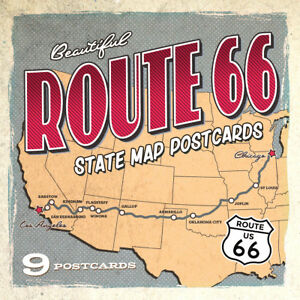 Ultimate Collection of Route 66 State Map Postcards | Set of 9 | 4x6