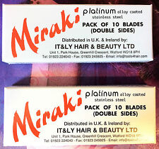 2x Miraki Pack Of Ten Double Sided Razor Blades Free p+p