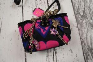 NEW VERSACE H&M BAG TASCHE ROUCH SILK STUDDED HANDBAG PURSE CLUTCH 100%AUTHENTIC