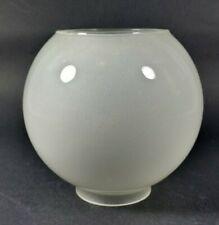 Antique Victorian Kerosine Oil Lamp Satin Ball Glass Shade French English