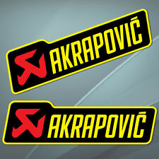 2 Autocollants Auto Moto Vinyle Sticker Akrapovic Echappement Voiture Race B 12