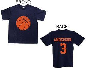 toddler boys basketball shirt personalized girls basketball jersey name number