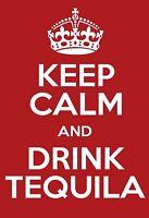 Keep calm drink Tequila Blechschild Schild gewölbt Tin Sign 20 x 30 cm FA1114