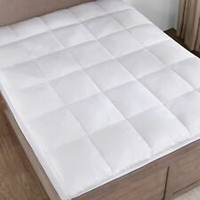 2 inch Thick Quiltied Goose Down Feather Mattress Topper King Queen White
